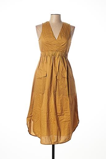 Robe mi-longue jaune SISLEY pour femme