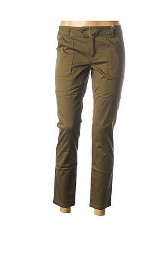 Pantalon casual vert LES P'TITES BOMBES pour femme