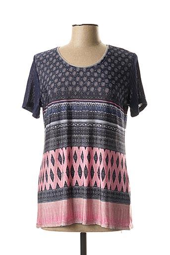 T-shirt manches courtes rose ANNA MUR pour femme