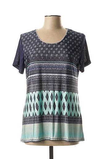 T-shirt manches courtes vert ANNA MUR pour femme