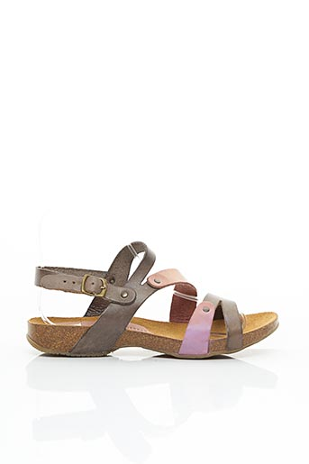 Sandales/Nu pieds beige SPK pour femme