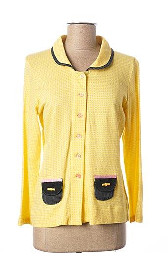 Veste casual jaune POUPEE CHIC pour femme