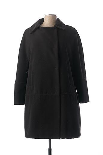 Manteau long noir PREGIO COUTURE pour femme