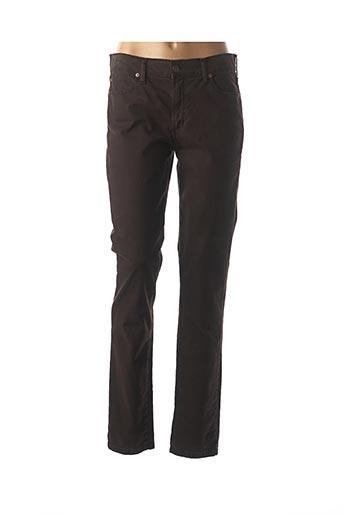 Pantalon casual marron DESGASTE pour femme
