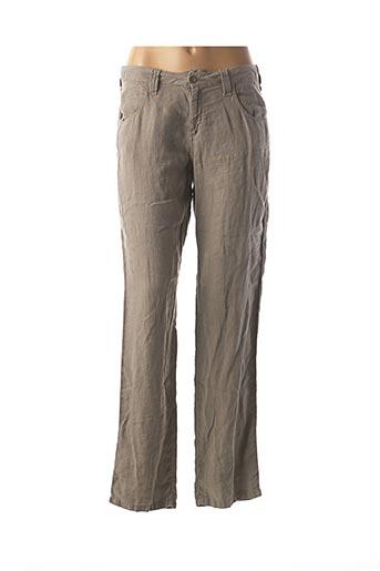 Pantalon casual vert DESGASTE pour femme
