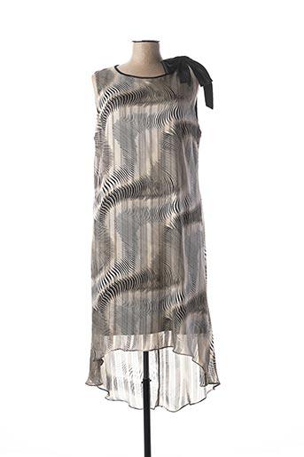 Robe mi-longue beige FRANK LYMAN pour femme