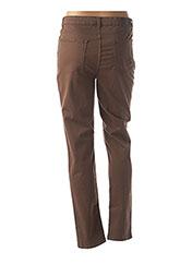 Pantalon casual marron EMMA & CARO pour femme seconde vue