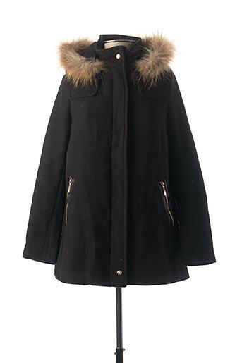 Manteau long noir ATTENTIF pour femme