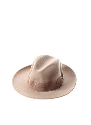 Chapeau beige CRUSHABLE pour femme