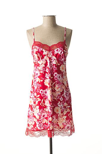Chemise de nuit rouge ANTINEA pour femme