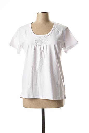 T-shirt manches courtes blanc ERIC TABARLY pour femme