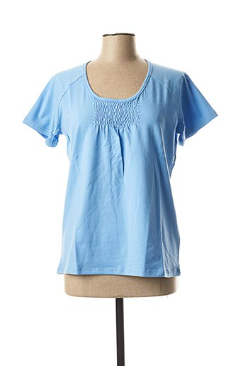 T-shirt manches courtes bleu ERIC TABARLY pour femme