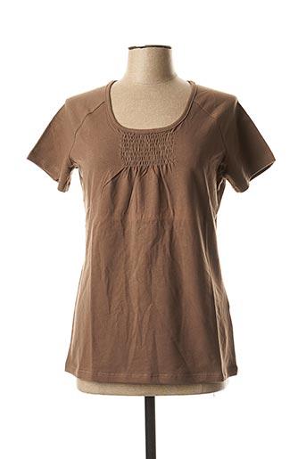 T-shirt manches courtes marron ERIC TABARLY pour femme