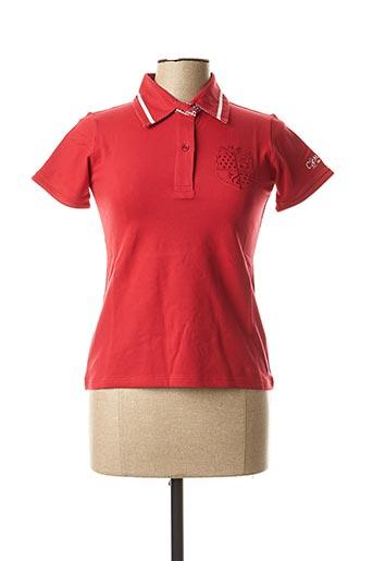 Polo manches courtes rouge COMPTOIR DU RUGBY pour femme