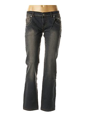 Jeans coupe droite gris CLOUD'S pour femme