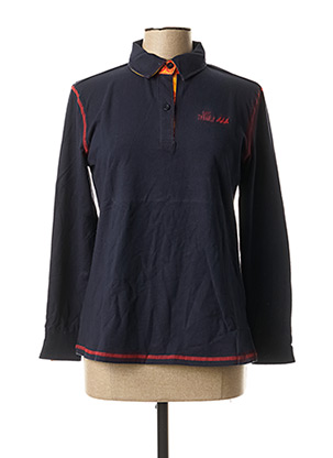 Polo manches longues bleu ERIC TABARLY pour femme