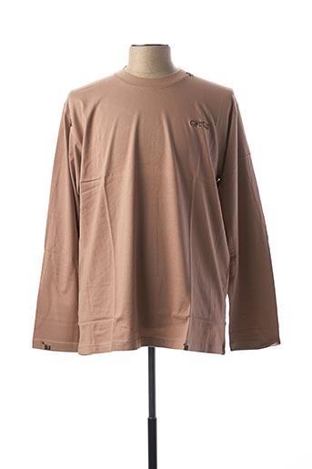 T-shirt manches longues marron COMPTOIR DU RUGBY pour homme