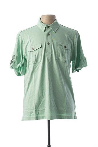 Polo manches courtes vert CLOUD'S pour homme