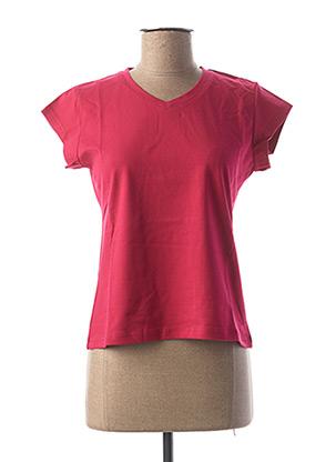 T-shirt manches courtes rose CLOUD'S pour femme