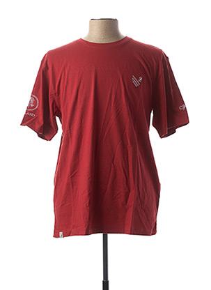 T-shirt manches courtes rouge COMPTOIR DU RUGBY pour homme