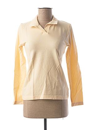 Polo manches longues beige CLOUD'S pour femme