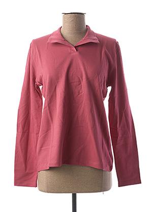 Polo manches longues rose CLOUD'S pour femme