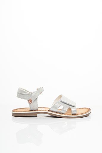 Sandales/Nu pieds gris KICKERS pour fille