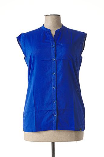 Chemisier manches courtes bleu EIDER pour femme