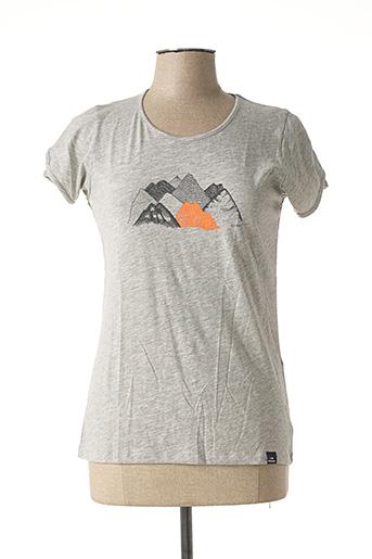 T-shirt manches courtes gris EIDER pour femme