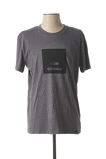 T-shirt manches courtes gris EIDER pour homme