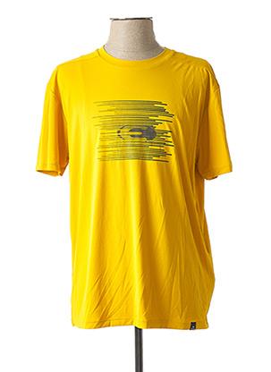 T-shirt manches courtes jaune EIDER pour homme