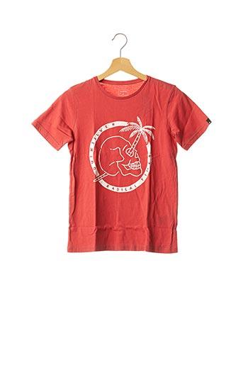 T-shirt manches courtes rouge QUICKSILVER pour garçon