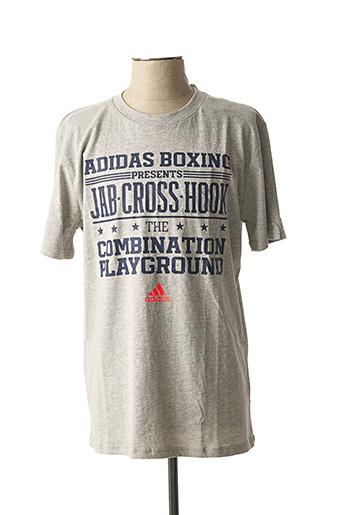 T-shirt manches courtes gris ADIDAS pour homme