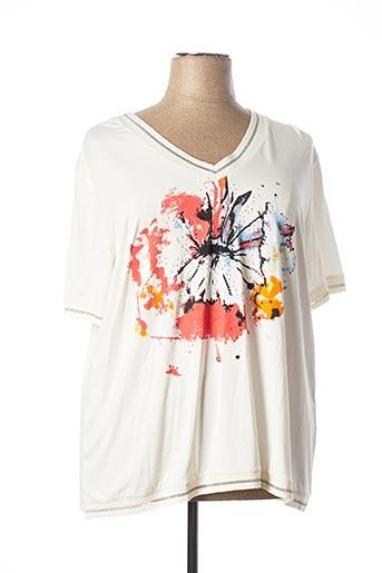 T-shirt manches courtes blanc ALAIN MURATI pour femme