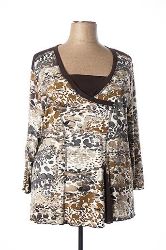 T-shirt manches longues marron GRIFFON pour femme