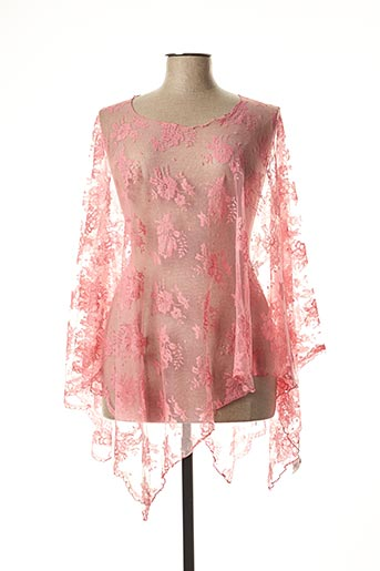 Poncho rose GANTEB'S pour femme