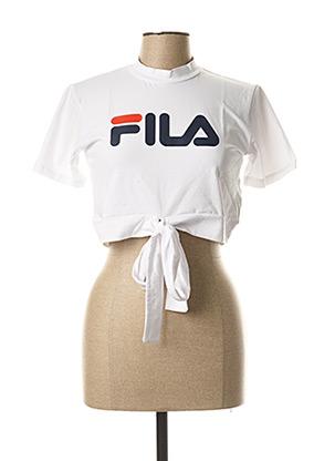 T-shirt manches courtes blanc FIL A pour femme