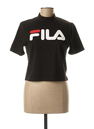 T-shirt manches courtes noir FIL A pour femme