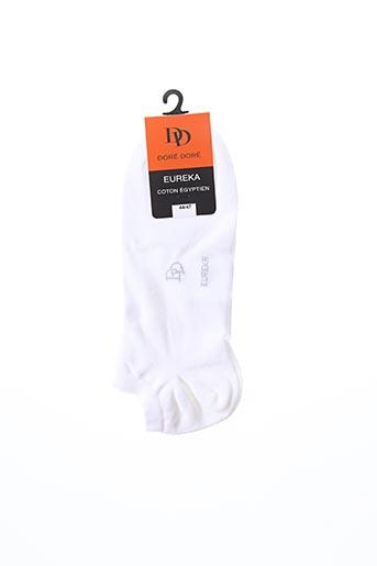 Chaussettes blanc DORE DORE pour homme
