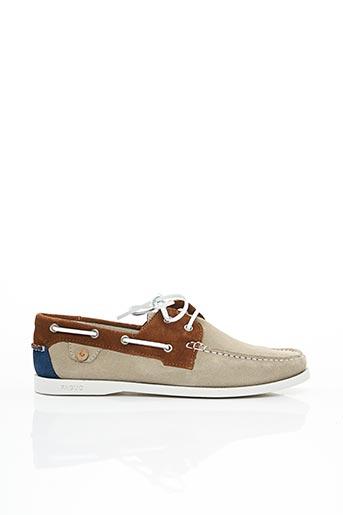 Chaussures bâteau beige FAGUO pour homme