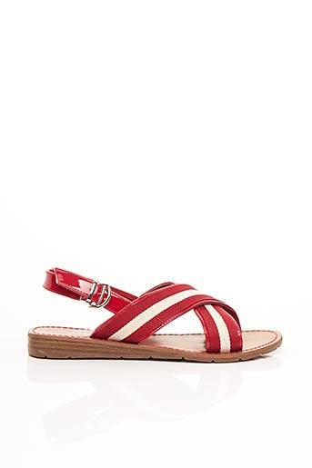 Sandales/Nu pieds rouge CHATTAWAK pour femme