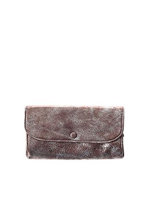 Portefeuille marron SABRINA pour femme