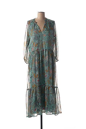 Robe mi-longue vert VILA pour femme