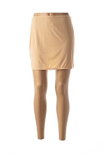 Jupon /Fond de robe beige JANIRA pour femme