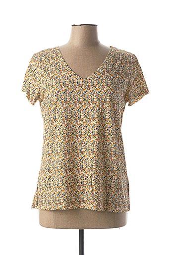 T-shirt manches courtes jaune KATMAI pour femme