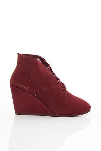 Bottines/Boots rouge ELEVEN PARIS pour femme