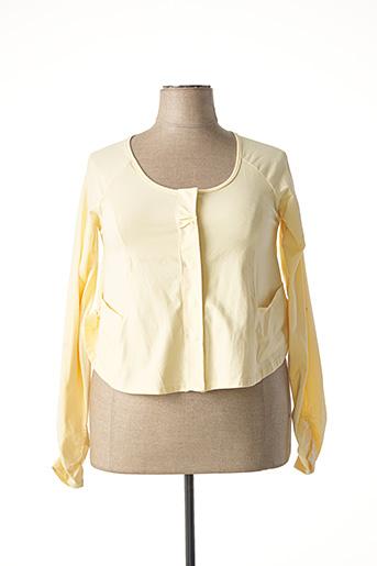 Veste casual jaune MYRINE & ME pour femme
