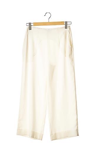 Pantalon casual blanc TARA JARMON pour femme