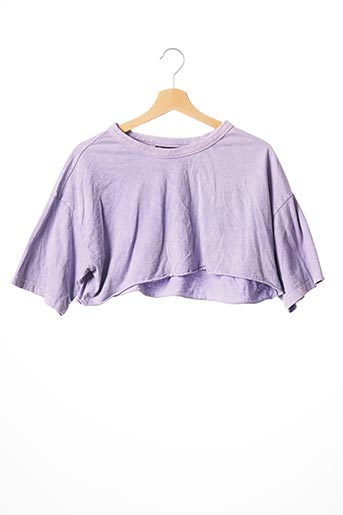 T-shirt manches courtes violet ASOS pour femme