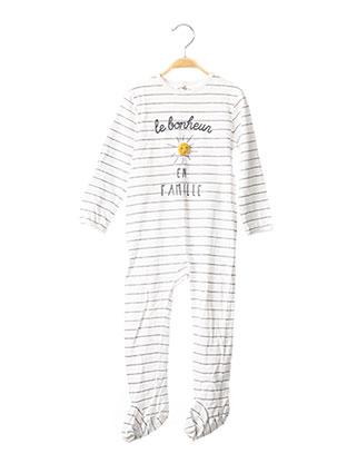 Pyjama blanc KIABI pour garçon
